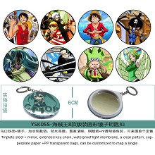 One Piece mirror key chains set(8pcs a set)YSK055
