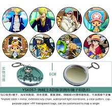 One Piece mirror key chains set(8pcs a set)YSK057