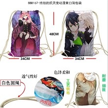 Seraph of the end anime drawstring backpack bag