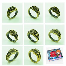 Reborn anime rings set(8pcs a set)