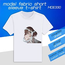 Toaru Kagaku no Rail anime modal fabric short slee...