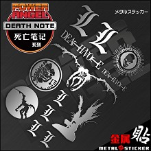 Death Note anime metal mobile phone stickers a set