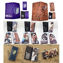 Attack on Titan anime long wallet
