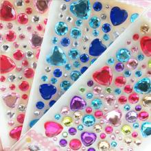Crystal acrylic button DIY twinkle jewelseals 3D stickers