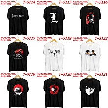 Death Note anime cotton short sleeve t-shirt