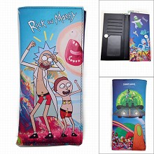 Rick and Morty anime long wallet