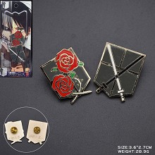 Attack on Titan anime brooch pins a set